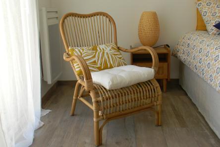 """Dormir chambres d'hôtes Lorient Hennebont Auray Kervignac - Les Jardins du Cloestro - Chambre déco """"Nature"""""""