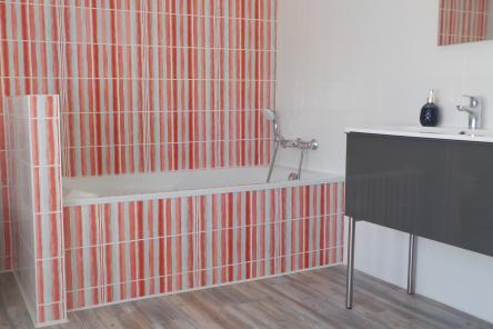 Dormir en chambres d'hôtes Bretagne Sud - Les Jardins du Cloestro - Kervignac - Chambre familiale avec grande salle de bain