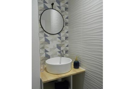 """Dormir chambres d'hôtes Lorient Hennebont Auray Kervignac - Les Jardins du Cloestro - Salle d'eau déco """"Terre et Mer"""""""