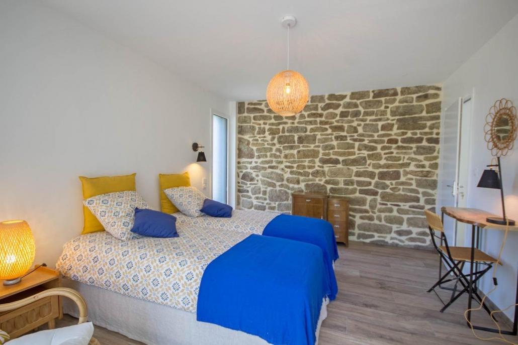 """Vacances chambres d'hôtes Lorient Hennebont Auray Kervignac - Les Jardins du Cloestro -Chambre déco """"Nature"""""""