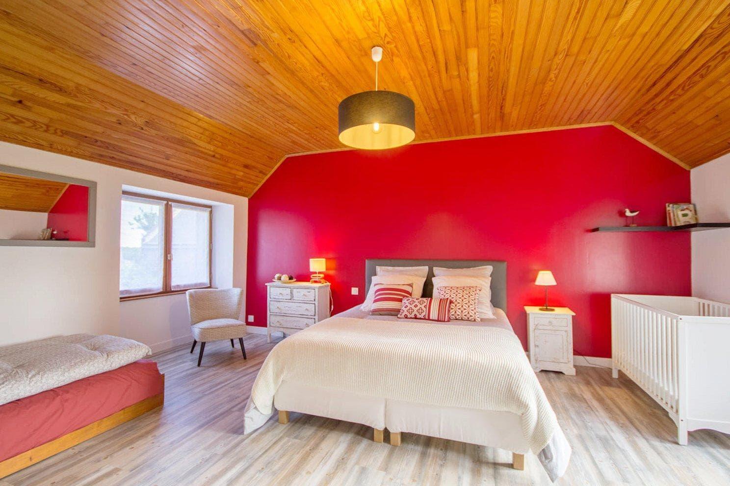 """Vacances chambres d'hôtes Lorient Hennebont Auray Kervignac - Les Jardins du Cloestro -Chambre familiale """"Ruz"""""""